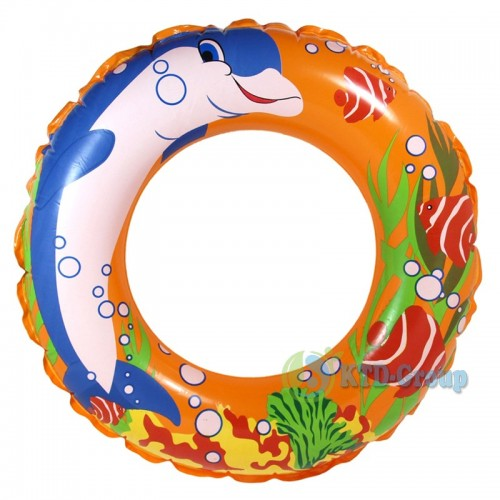 ABC SWIM RING DOLPHIN ORANGE