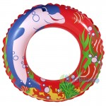 ABC SWIM RING DOLPHIN RED