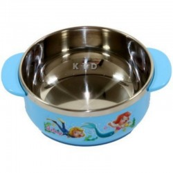 LUCKY BABY STAINLESS BOWL 11x5CM BLUE