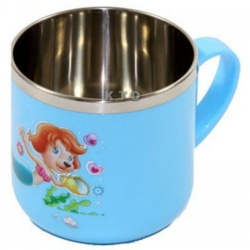 LUCKY BABY STAINLESS CUP 8X7CM BLUE