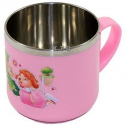 LUCKY BABY STAINLESS CUP 8X7CM PINK