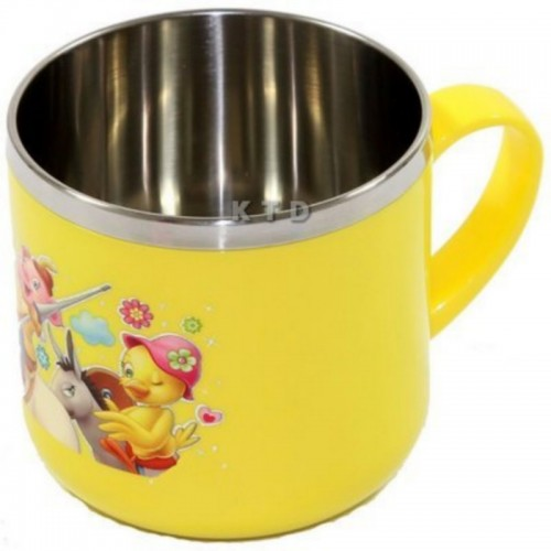 LUCKY BABY STAINLESS CUP 8X7CM YELLOW