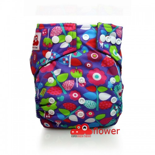 CLOTHCODILE BAMBOO CHARCHOAL DIAPER FLOWER