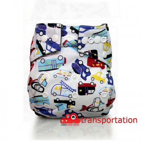 CLOTHCODILE BAMBOO CHARCHOAL DIAPER TRANSPORTATION