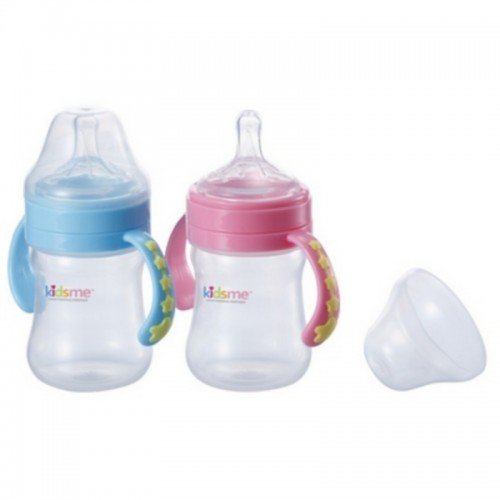KIDSME MILK BOTTLE ANTI COLIC 180ML PINK