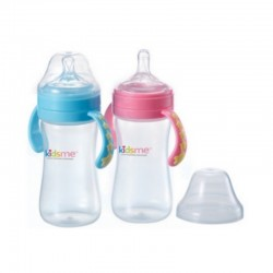 KIDSME MILK BOTTLE ANTI COLIC 270ML PINK