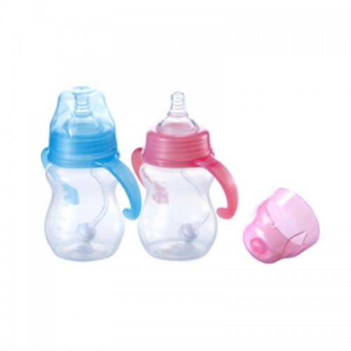 KIDSME MILK BOTTLE SAFETY PP WITH STRAW 210ML PINK