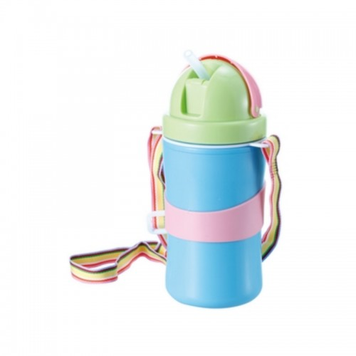 KIDSME FLIP TOP STRAW CUP WITH STRAP 311ML