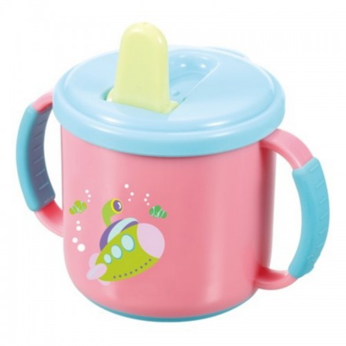 KIDSME SOFT GRIP HANDLE TRAINING CUP WITH ANTI-SLIP BOTTOM 210ML