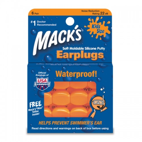 MACKS EARPLUG KIDS SIZE 6 PAIR